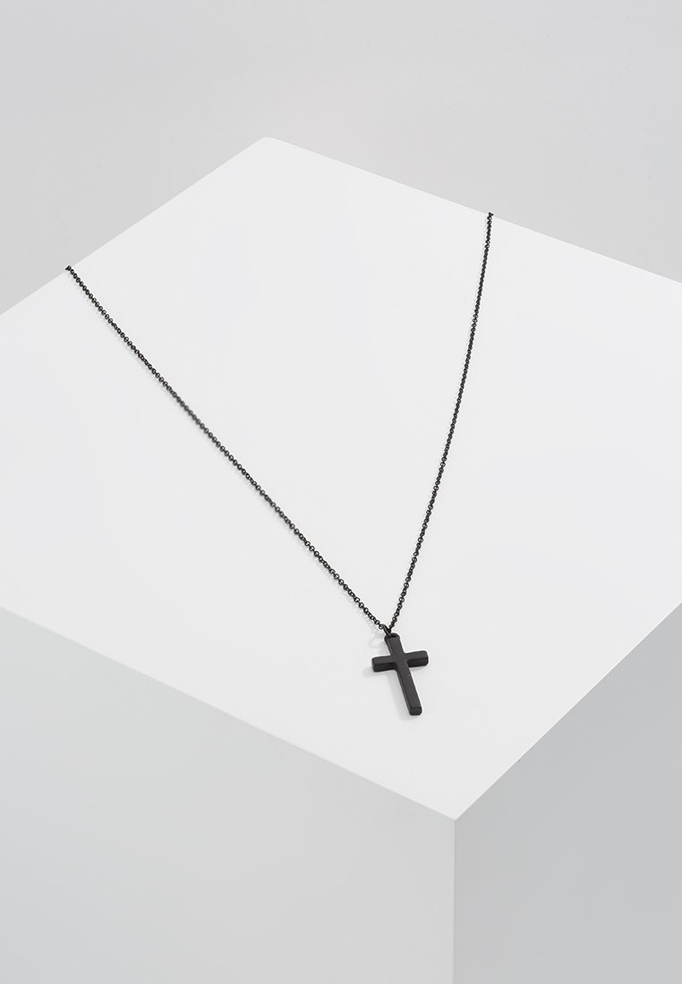 Icon Brand - CROSS TOWN NECKLACE - Necklace - black
