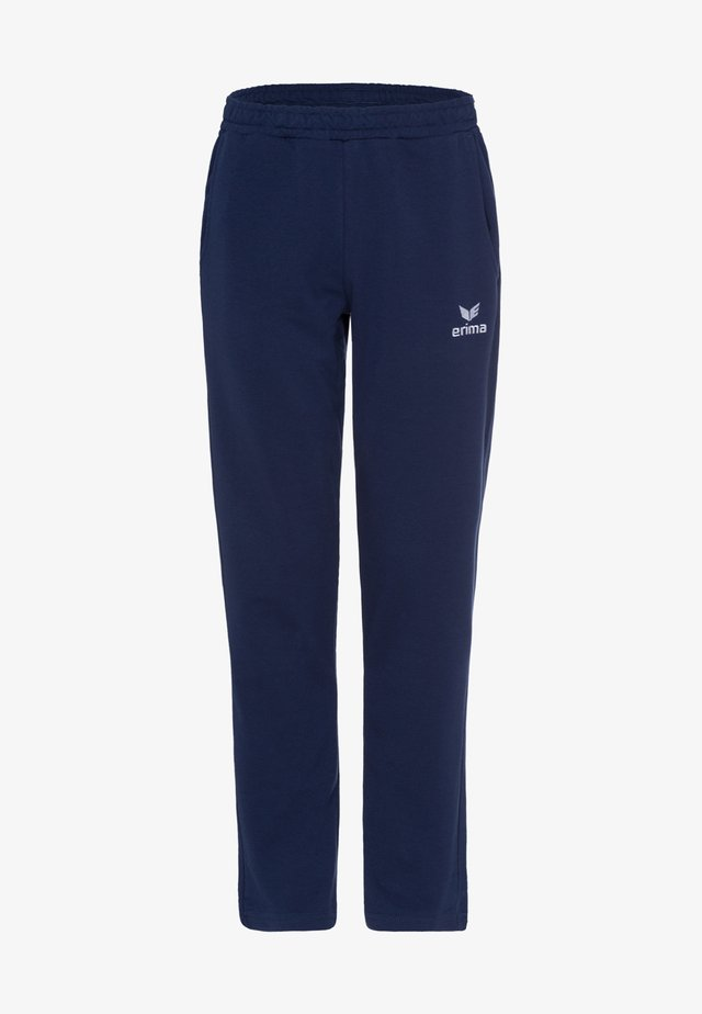 ESSENTIAL  - Tracksuit bottoms - navy / weiß