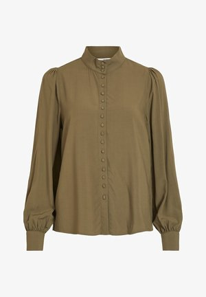 Button-down blouse - burnt olive