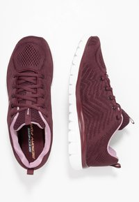Skechers Sport - GRACEFUL - Tenisky - wine/lavender trim - 3