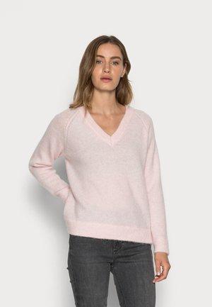 SLFLULU V NECK  - Jumper - chalk pink
