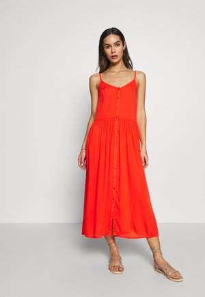 VMMORNING MIDI DRESS - Ranta-asusteet - cherry tomato
