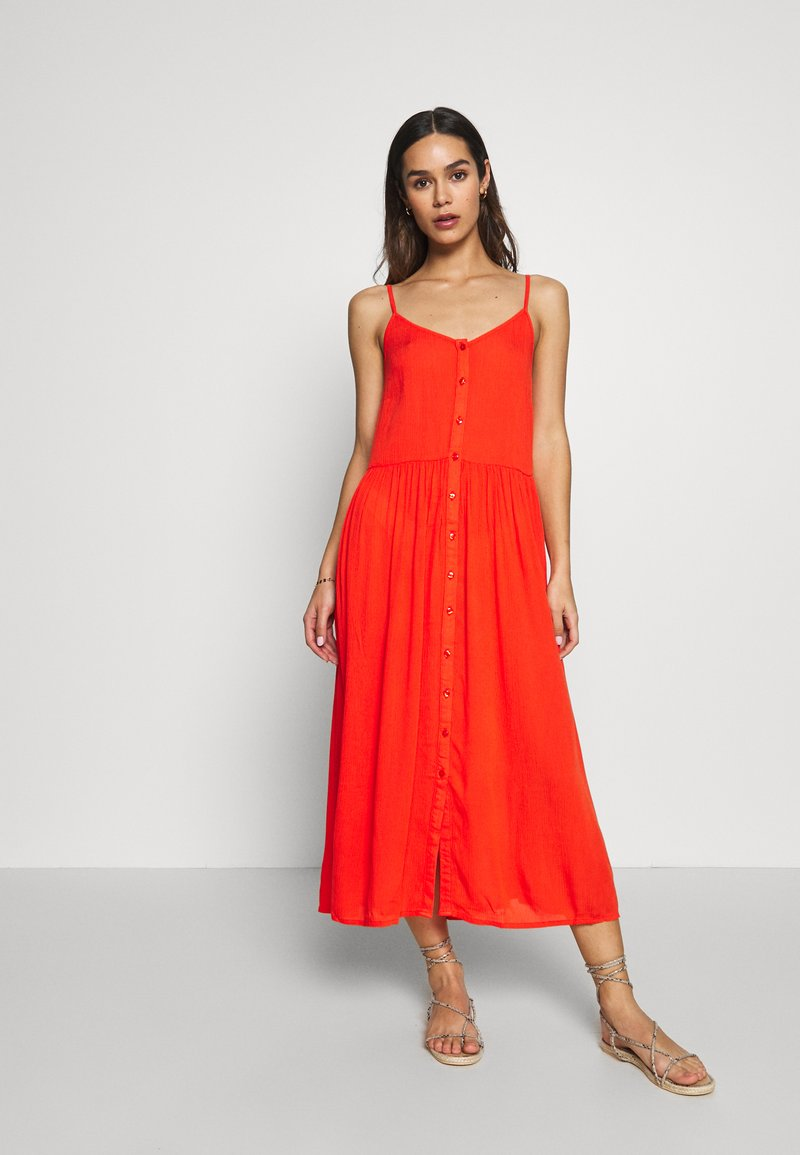 Vero Moda - VMMORNING MIDI DRESS - Ranta-asusteet - cherry tomato