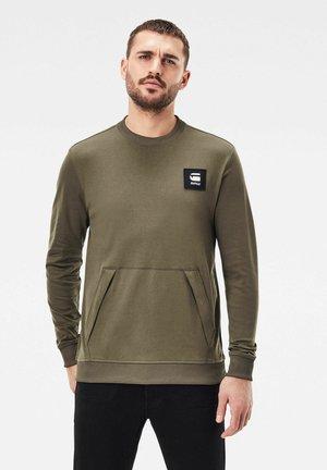 BOX LOGO POCKET TWEATER - Sweatshirt - khaki
