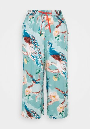 CAPRI PAINTED PEACOCK - Pyjama bottoms - mineral blue