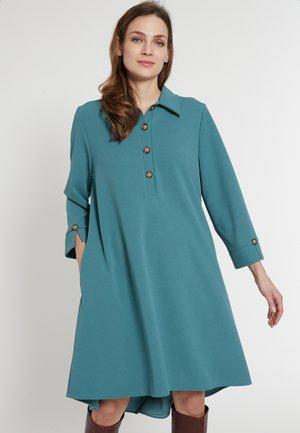 ELANEA - Shirt dress - petrol