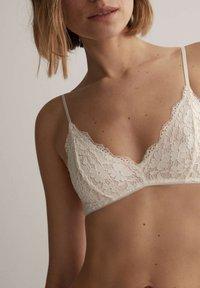 OYSHO - Triangle bra - white - 3