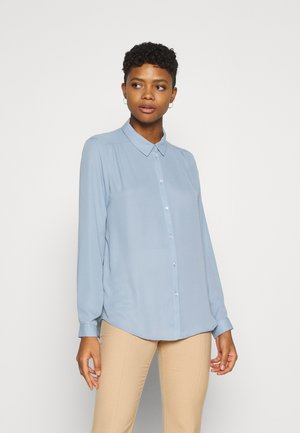 VILUCY BUTTON - Button-down blouse - ashley blue