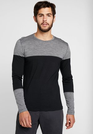 DELUXE CREWE - Long sleeved top - black/gritstone