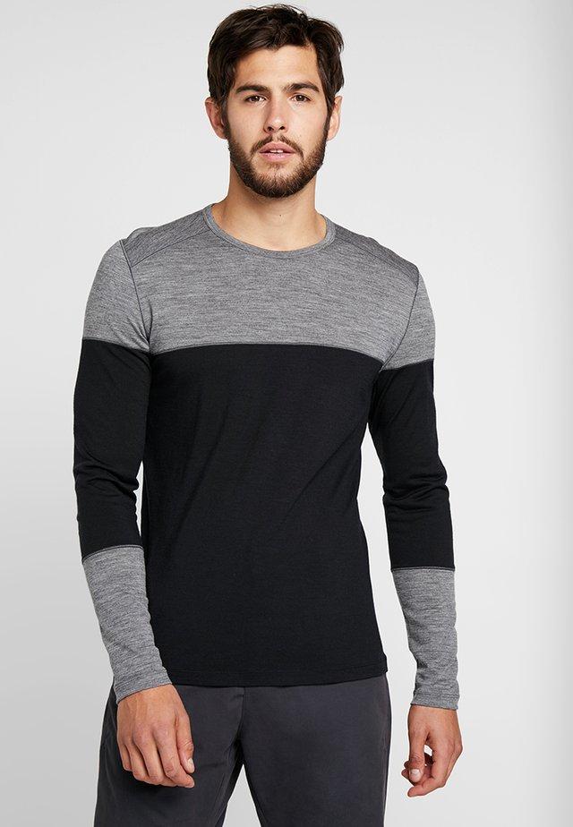 DELUXE CREWE - Long sleeved top - black/gritstone