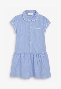 Next - Shirt dress - mottled blue - 0