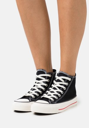 BRITT RETRO - Sneakers hoog - black