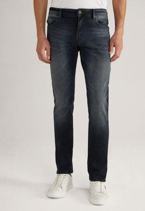 Straight leg jeans - dunkelblau/grau