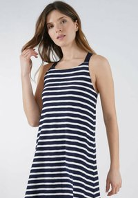 Armor lux - Jersey dress - marine deep/blanc - 2