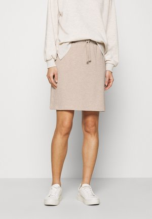 Mini skirt - silver gray melange