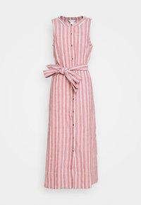 SLEEVELESS BUTTON FRONT DRESS - Košilové šaty - red