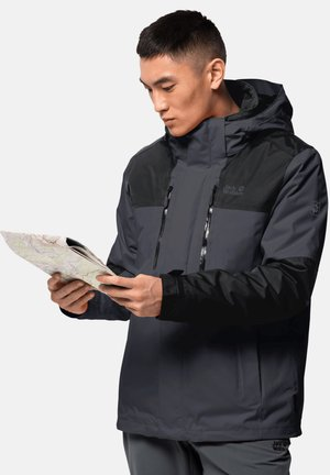 3 IN 1  - Hardshell jacket - ebony