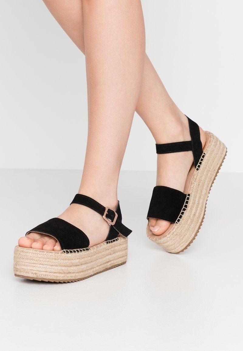 XTI - Platform sandals - black