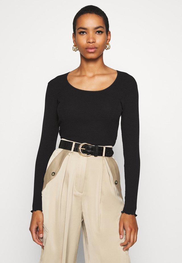 TALUNA - Maglietta a manica lunga - black
