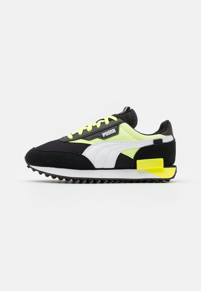 Puma - FUTURE RIDER NEON PLAY UNISEX - Trainers - black/fizzy yellow