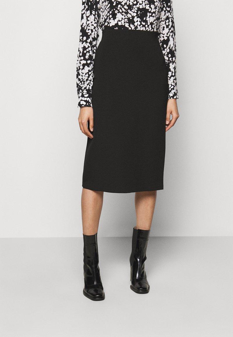 HUGO - NESSICA - Pouzdrová sukně - black