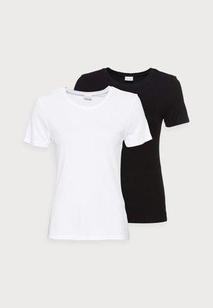 SHIRT REGULAR 2 PACK - Jednoduché triko - schwarz/weiß