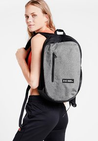 Under Armour - ROLAND  - Rucksack - graphite medium heather/black/white - 2