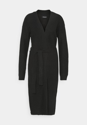 LONGLINE  MAXI CARDIGAN - Strickjacke - black