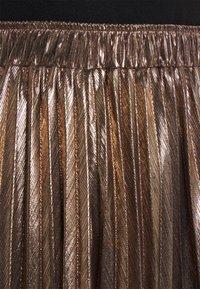 Molly Bracken - LADIES WOVEN SKIRT - A-line skirt - mat gold - 4