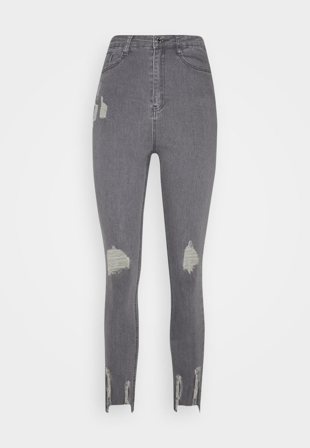 SINNER HIGHWAISTED DESTROYED - Jeansy Skinny Fit - grey