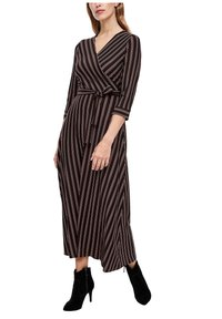 s.Oliver BLACK LABEL - Maxi dress - brown stripes - 6