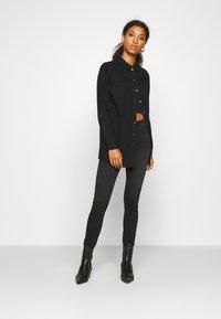 Vero Moda - VMMILA LONG - Button-down blouse - black - 1
