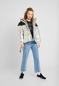 Tommy Jeans - BELTED JACKET - Winter jacket - silver - 1