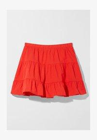 Bershka - A-line skirt - red - 4
