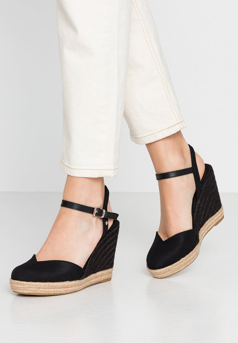 Tommy Hilfiger - BASIC CLOSED TOE HIGH WEDGE - High heeled sandals - black