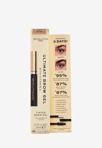 Revolution PRO - ULTIMATE BROW GEL - Eyebrow gel - soft brown - 1