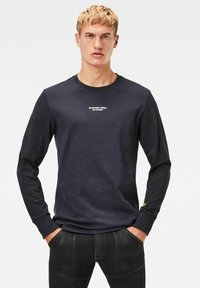 G-Star - MOTAC LOGO - Långärmad tröja - mazarine blue - 0