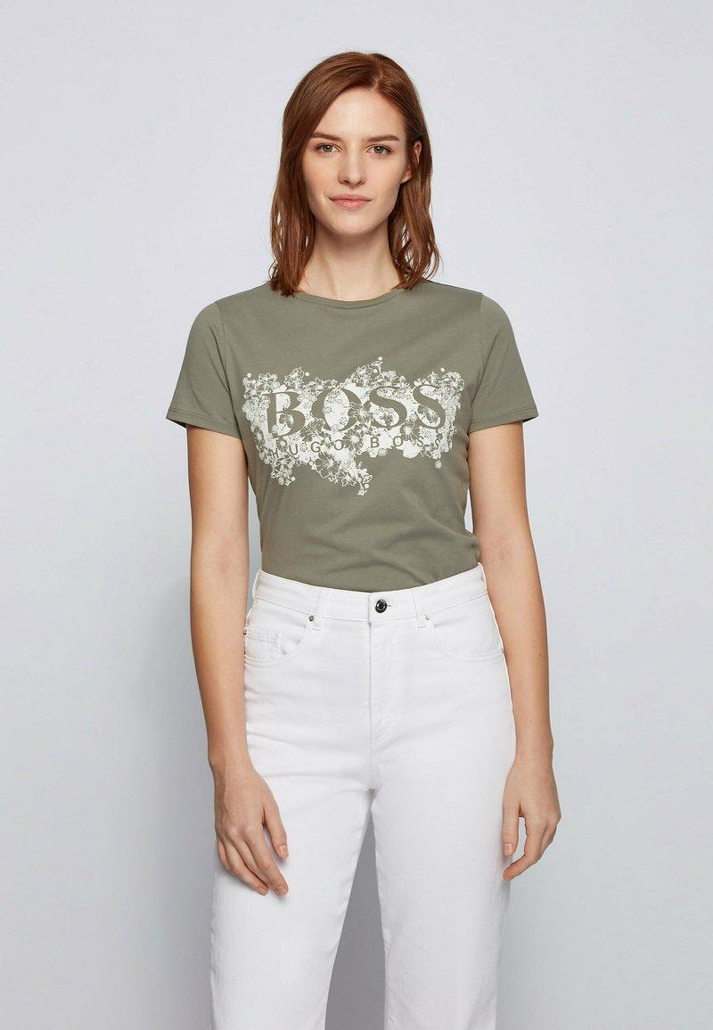 BOSS - C_ELOGO - Print T-shirt - dark green