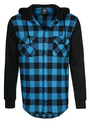 Zip-up hoodie - schwarz/ türkis
