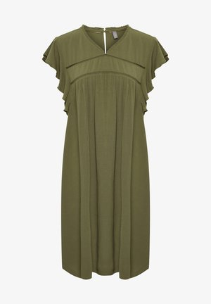 Day dress - burnt olive