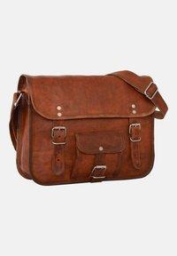 Gusti Leder - ALEX  - Across body bag - brown - 4