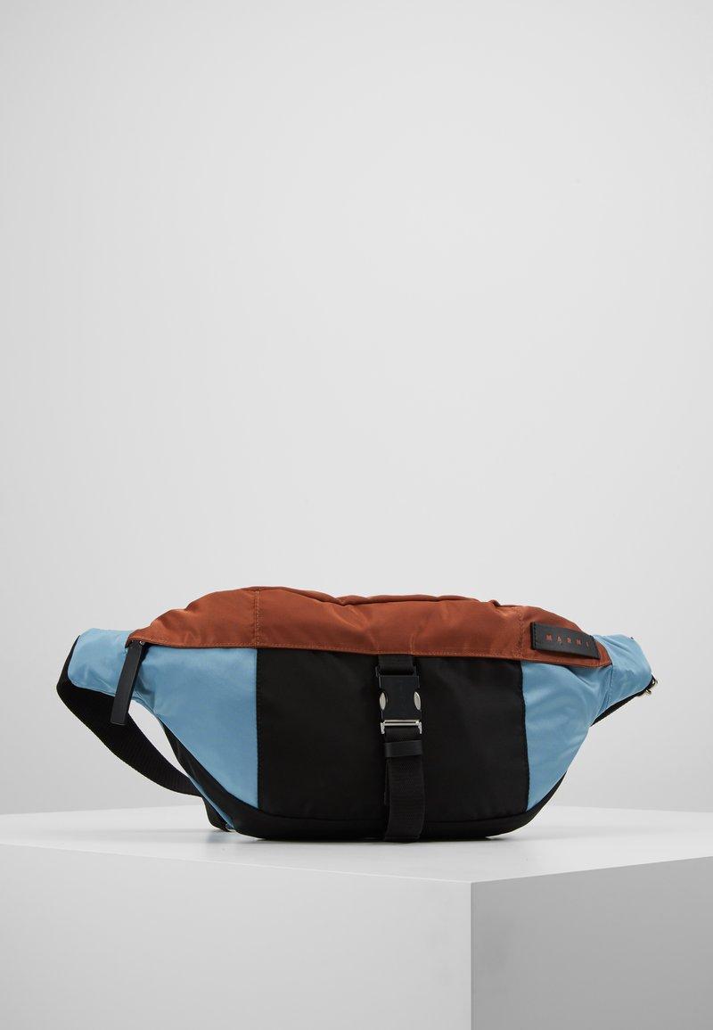 Marni - Bum bag - lake/rust/black