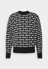 Versace Jeans Couture - FILATO MIXED LETTERING  - Jumper - black - 5