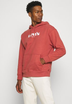 RELAXED GRAPHIC  UNISEX - Hoodie - marsala