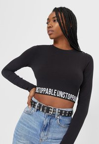 Stradivarius - Belt - black - 0
