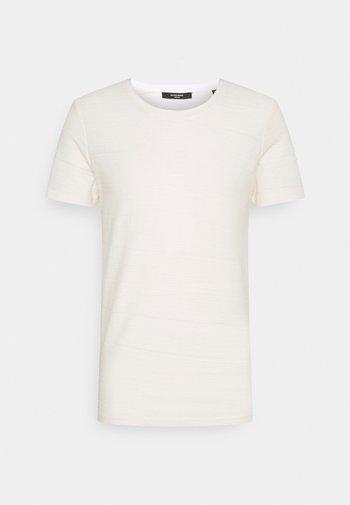 JPRBLAMILO TEE CREW NECK - T-shirt basic - egret