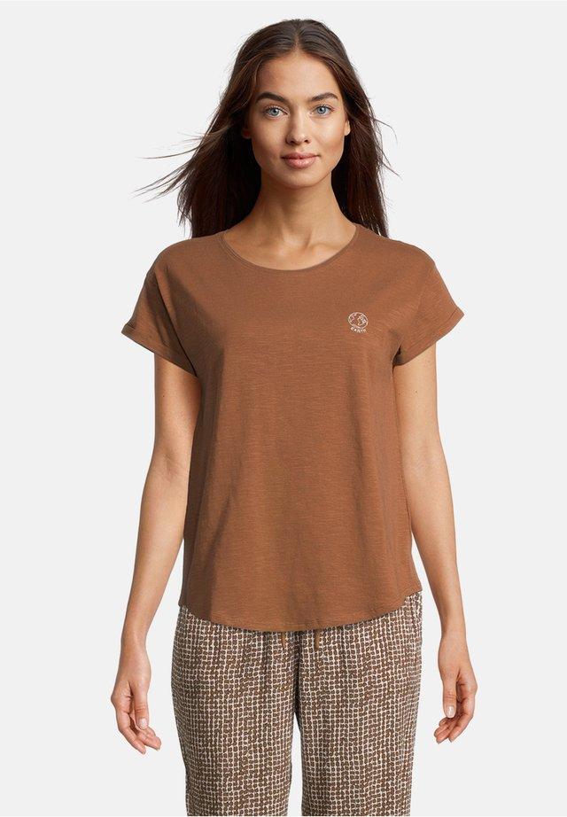 Print T-shirt - toffee