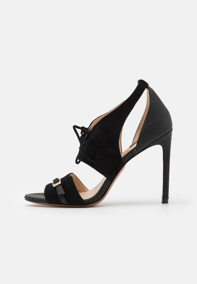 FRANCINE - High heeled sandals - nero limousine