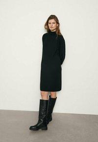 Massimo Dutti - MIT KORDEL - Jumper dress - black - 1
