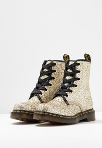 Dr. Martens - 1460 FARRAH - Bottines à lacets - gold chunky glitter - 4